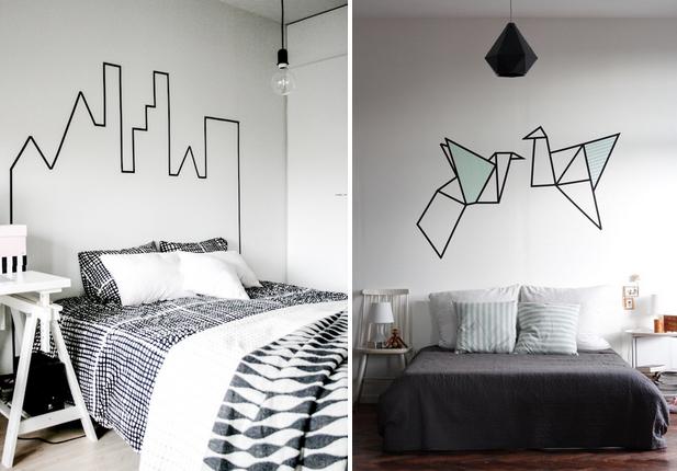 comment d corer son int rieur avec du masking tape piece vivre le blog piece vivre. Black Bedroom Furniture Sets. Home Design Ideas