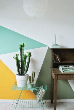 mur peinture couleurs flashy