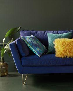 Canapé couleurs bleu