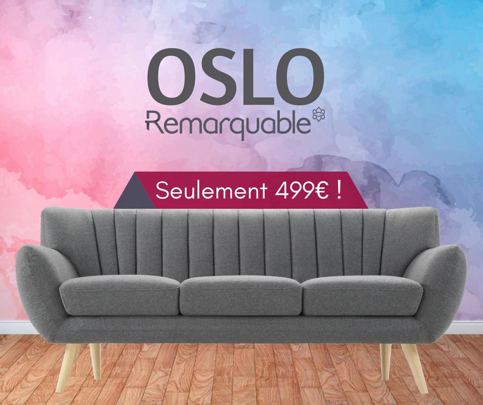OSLO - Canapé scandinave