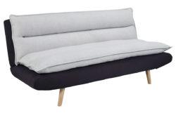 Canapé convertible JUDE gris et noir
