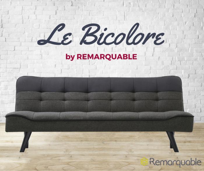 Canapé convertible Bicolore-REKJVI